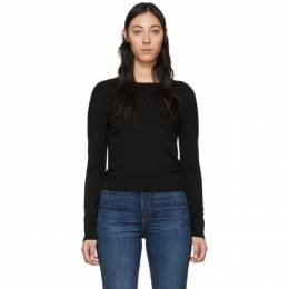 Rag&Bone Black Wool Pak Crewneck Sweater WCS19HS004XH04-1