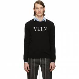 Valentino Black VLTN Crewneck Sweater TV3KC26U54H