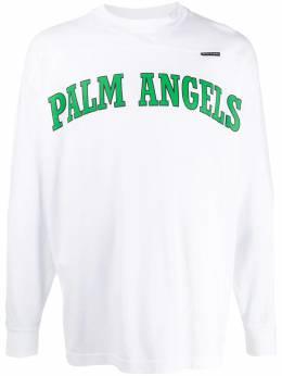 Palm Angels футболка с длинными рукавами и логотипом PMAB018R204130010140