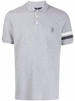 Brunello Cucinelli рубашка-поло с вышитым логотипом M0T631315GCC854