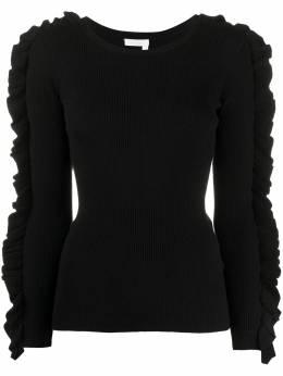 See By Chloe свитер в рубчик с оборками CHS20SMP25620