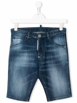 Dsquared2 Kids джинсовые шорты с эффектом потертости DQ024D00YAD2P102AVM