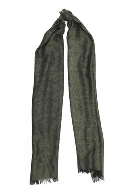 Темно-зеленый шарф с принтом Isaia 2328171572