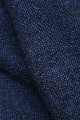 Широкий синий шарф с бахромой Isaia 2328171580