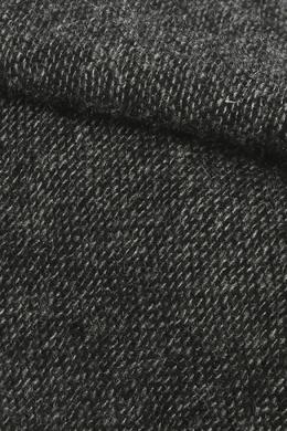 Широкий серый шарф с бахромой Isaia 2328171582