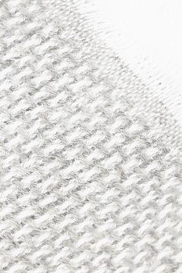 Светло-серый кашемировый шарф с узором в полоску Isaia 2328171576