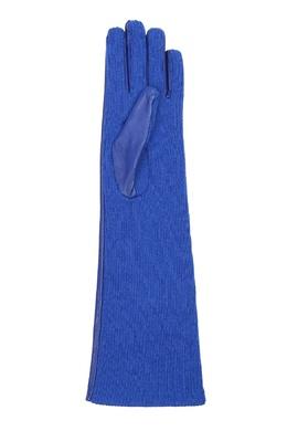 Синие комбинированные удлиненные перчатки Marina Rinaldi 1511172902