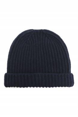 Темно-синяя шапка из кашемира Della Ciana 3111173241