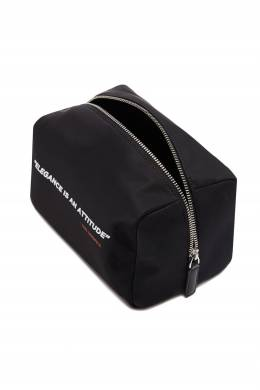 Черная косметичка с контрастной надписью Karl Lagerfeld 682173413