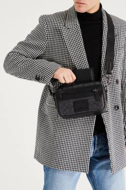 Черный бумажник из полированной зерненой кожи Coach 2219172875