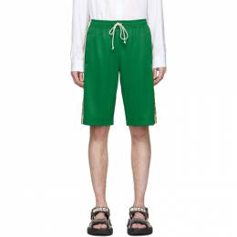 Gucci Green Jersey GG Ribbon Shorts 604150 XJBZ8