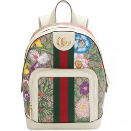 Gucci Multicolor Small GG Flora Ophidia Backpack 547965 HV8DC