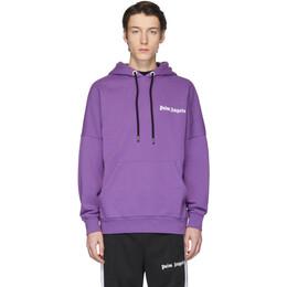 Palm Angels Purple New Basic Hoodie PMBB036R204410019588