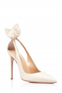 Кожаные туфли кремового цвета Deneuve 105 Aquazzura 975173746