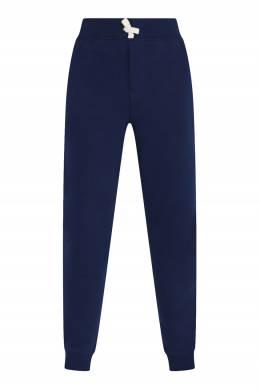 Синие однотонные брюки на резинке Ralph Lauren Kids 1252173325