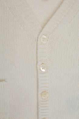 Белый вязаный кардиган Bonpoint 1210152555