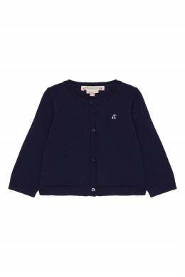 Темно-синий шерстяной кардиган Bonpoint 1210152621