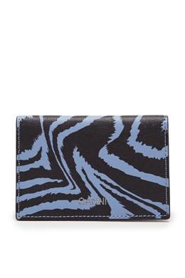 Голубой кошелек с принтом Ganni 2979172081