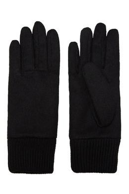 Черные комбинированные перчатки с нашивкой Karl Lagerfeld 682173466