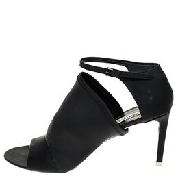 Balenciaga Black Rubberised Neoprene Glove Open Toe Ankle Strap Sandals Size 40 253765