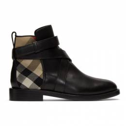 Burberry Black House Check Pryle Boots 8023836