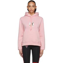 Burberry Pink Deer Junnes Hoodie 8024654