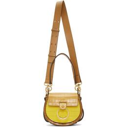 Chloe Yellow and Tan Small Tess Bag CHC20SS153C36