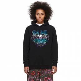 Kenzo Black Limited Edition Holiday Classic Tiger Hoodie F962SW7704X7