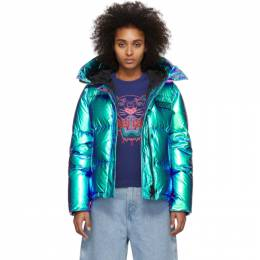 Kenzo Blue Limited Edition Holiday Down Hooded Quilted Jacket F962BL074583
