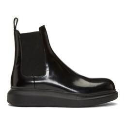 Alexander McQueen Black Hybrid Chelsea Boots 586198WHX52