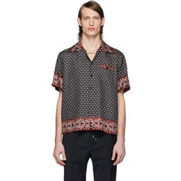 Dolce&Gabbana Black and Burgundy Silk Bandana Print Shirt G5GX4T FI1KK
