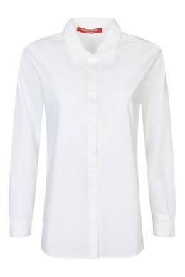 Белая рубашка из хлопка Marina Rinaldi 1511173761
