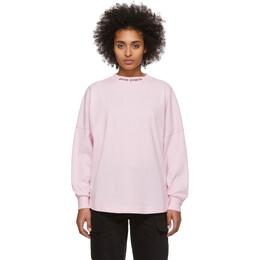 Palm Angels Pink Logo Long Sleeve T-Shirt PMAB001R204130012710