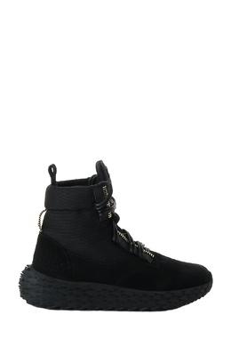 Высокие кроссовки из черной замши и ткани Giuseppe Zanotti Design 2096174284