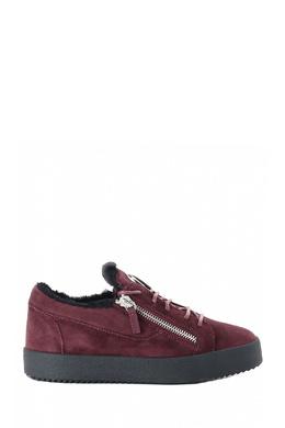 Ботинки из бордовой замши с мехом Giuseppe Zanotti Design 2096174307