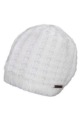 Белая вязаная шапка Trussardi Jeans 3074174658
