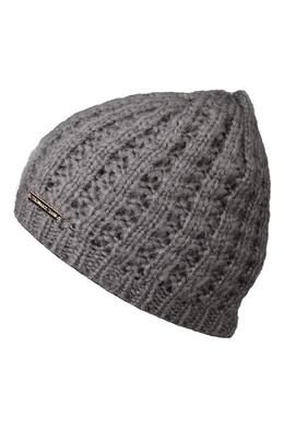 Серая вязаная шапка Trussardi Jeans 3074174657