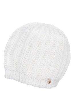 Белая вязаная шапка Trussardi Jeans 3074174357