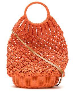 Serpui соломенная сумка в технике кроше 9243LARA