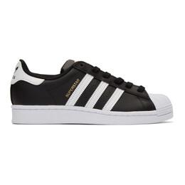 Adidas Originals Black and White Superstar Sneakers FV3286