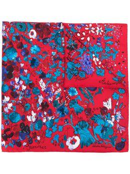 Salvatore Ferragamo шарф с цветочным принтом 726126