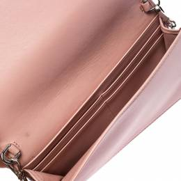 Prada Beige Nappa Leather Mini Bandoliera Wallet On Chain 253892