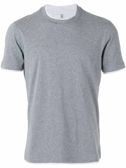 Brunello Cucinelli футболка с контрастной окантовкой M0T617427CU263