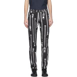 Moschino Black Zipper Trousers 0333 2051