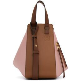 Loewe Tan and Pink Small Hammock Bag 387.30WS35