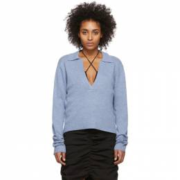 Georgia Alice Blue Open Polo Sweater 5P0024C420