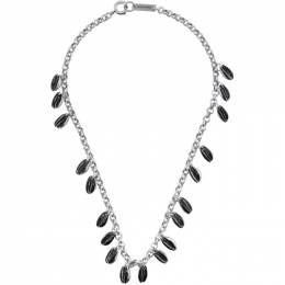 Isabel Marant Black and Silver New Amer Necklace CO0259-20P028B