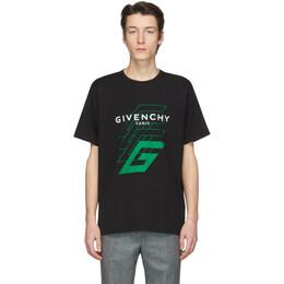 Givenchy Black 4G Logo T-Shirt BM70UV3002