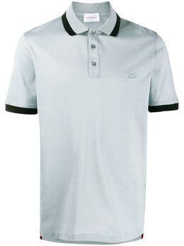 Salvatore Ferragamo рубашка-поло с контрастной отделкой 723449