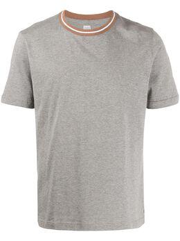 Eleventy футболка с воротником в полоску A75TSHA02JER0A005